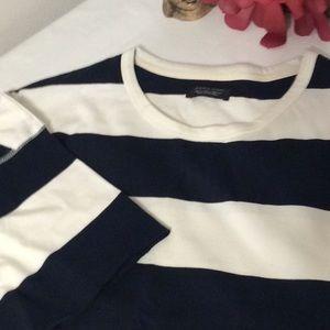 Zara Men's Blue & White Shirt